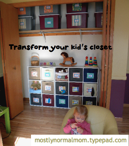 Transform kids closet